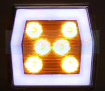 Neon LED Square Front Combination Lamp Illuminated 2 FT-125