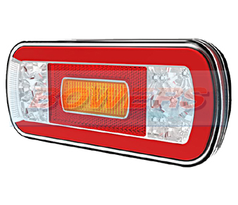 Glow Trac LED Rear Combination Lamp + Reverse FT-130 COF LED