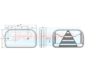 Neon LED Rear Right Hand Combination Lamp FT-170 P TB Schematic