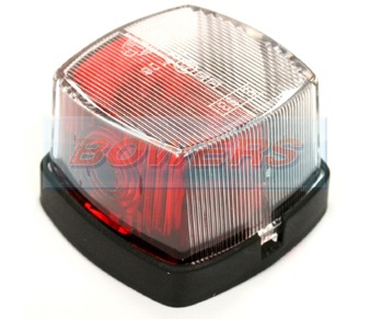 Hella 2XS005639001 Red & Clear Marker Lamp