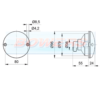 Jokon 710 95mm Round Rear Light Schematic