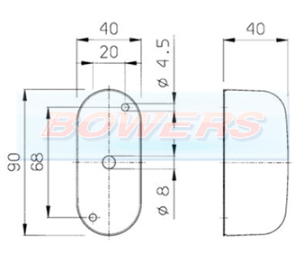 Jokon SPL2000 12.0012.000 Red White End Outline Side Marker Light Schematic