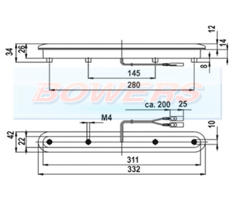 Jokon ZHBL05 15.0005.002 12v LED Rear High Level 3rd Brake Light Schematic