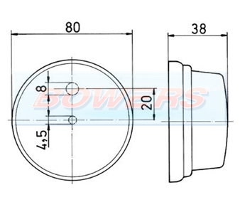 Jokon PLR272 White Front Marker Light Schematic