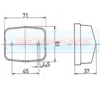 Jokon BL115 PL115 SPL115 Square Marker Light Schematic