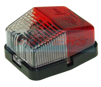 Jokon SPL115 12.0003.200 Square Red White End Outline Side Marker Light