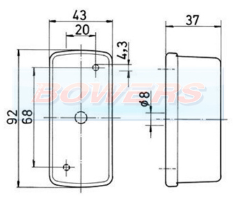 Jokon SPL07 12.0007.000 Red Clear White Caravan Side Marker Light Schematic