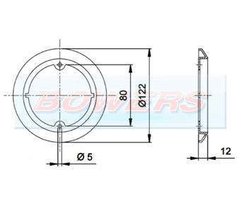 Jokon 710 19.2016.000 95mm Round Chrome Outer Trim Ring Schematic