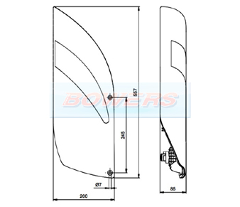 Jokon L3100 10.2220.011 Rear Left Hand Caravan Light Schematic
