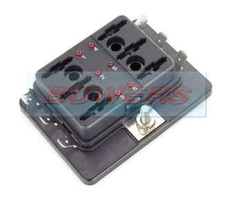 6 Way LED Blade Fuse Box 2