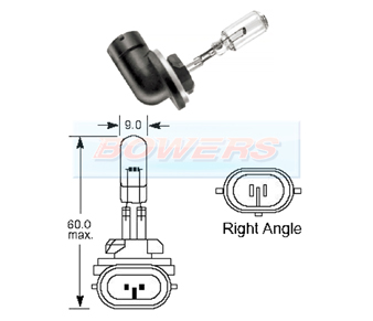 Lucas Bulb 12v 50w Rightangle base LLB886