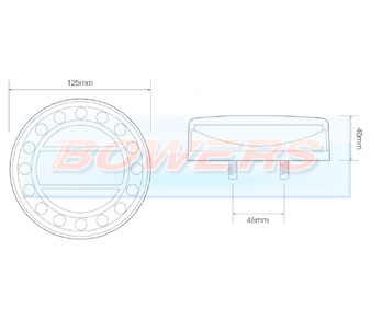 LED Autolamps MAXILAMP Round Rear Light Schematic