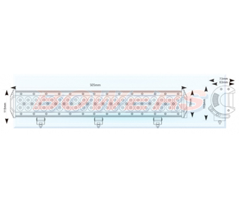 Maypole MP5073 LED Light Bar Schematic