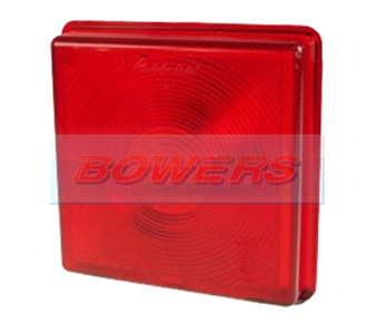 Rubbolite 5428 Square Red Rear Stop/Tail Light Lens