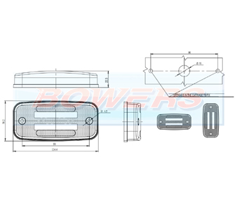 WAS W158 LED Marker Light Schematic