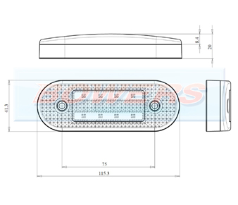 WAS W175 LED Marker Light Schematic