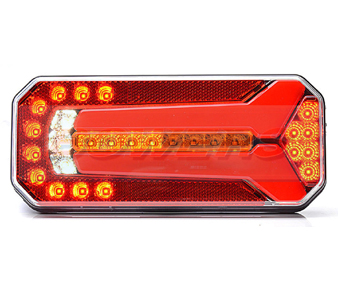 WAS W1123DDL/P Neon LED Rear Combination Light With Dynamic Indicator