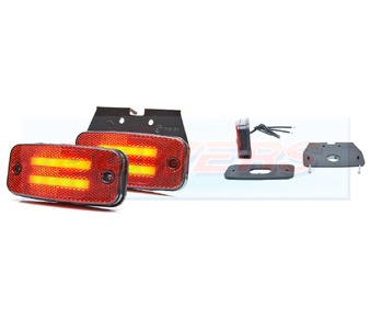 WAS W158 LED Rear Red Marker Light