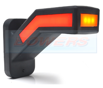 WAS W168.2 Right Hand LED Red White Amber Stalk Marker Light