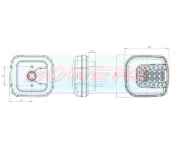 WAS W169 Neon LED Front Combination Light Schematic
