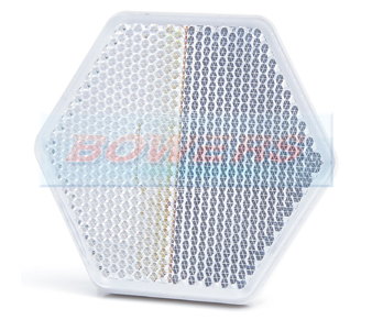 White Clear Hexagonal Stick On Self Adhesive Reflector