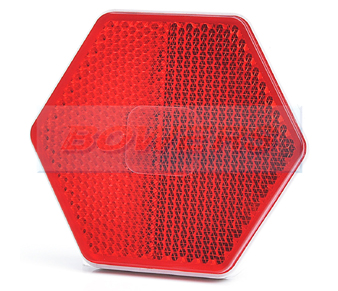 Red Hexagonal Stick On Self Adhesive Reflector