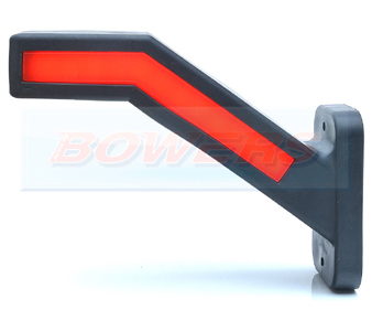 WAS W168.6DD Left Hand LED Red White Amber Side Stalk End Outline Marker Light With Dynamic Indicator 2