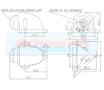 WAS W25 LED Marker Light Schematic