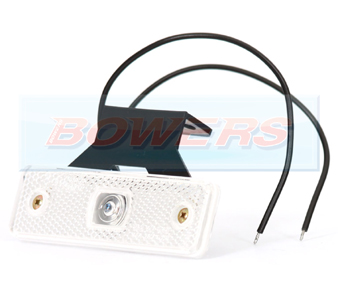 WAS W44 LED Front White Marker Light With Bracket