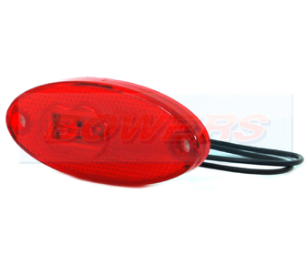 WAS W65 LED Oval Red Rear Marker Light