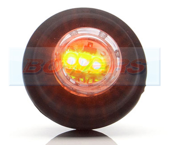 WAS W80 LED Push In Amber Side Marker Light