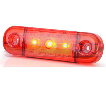 WAS W97.1 LED Red Rear Marker Light