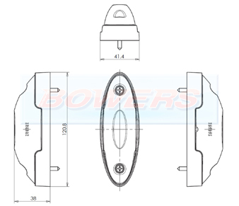 WAS W104/W105 LED End Outline Marker Light Schematic