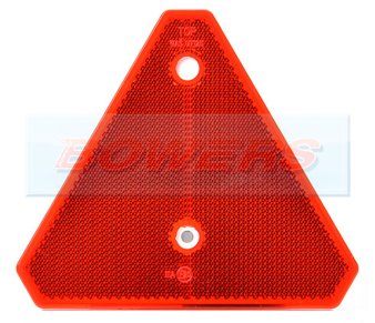 Red Reflective Triangle For Trailer/Caravan/Gate Post