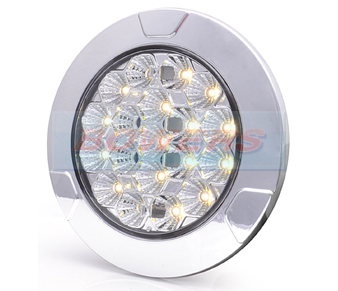 WAS LW12DS Clear Large Round Dimmable LED Interior Light