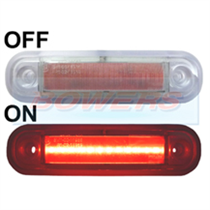 12v/24v Surface Mount Red LED Rear Marker Lamp/Light