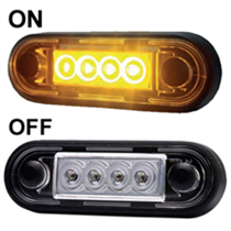 Easy Fit Slim Amber/Orange LED Marker Light Ideal For Truck & Van Bars