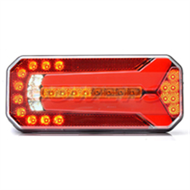 WAS W150DD 12v/24v Universal Neon LED Rear Combination Tail Light Lamp With Dynamic Progressive Sequential Indicator