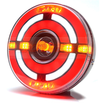 WAS W210 12v/24v Universal Neon Bullseye LED Rear Hamburger Combination Light Lamp