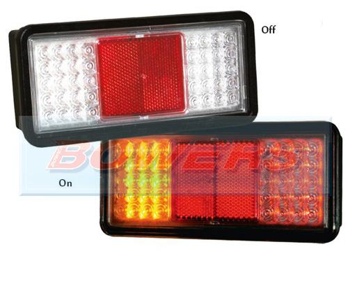 Sim 3159 12v 24v 4 Pin Clear Lens Led Rear Combination