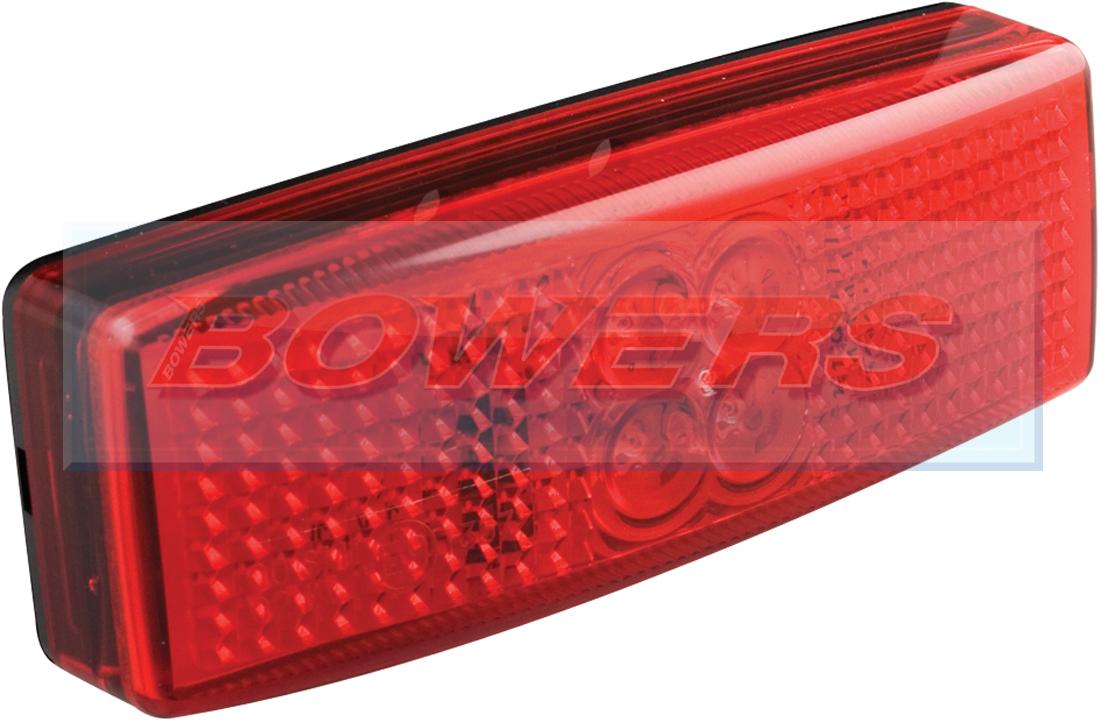 Led Autolamps 1490rm 12v 24v Red Rear Marker Lamp Light