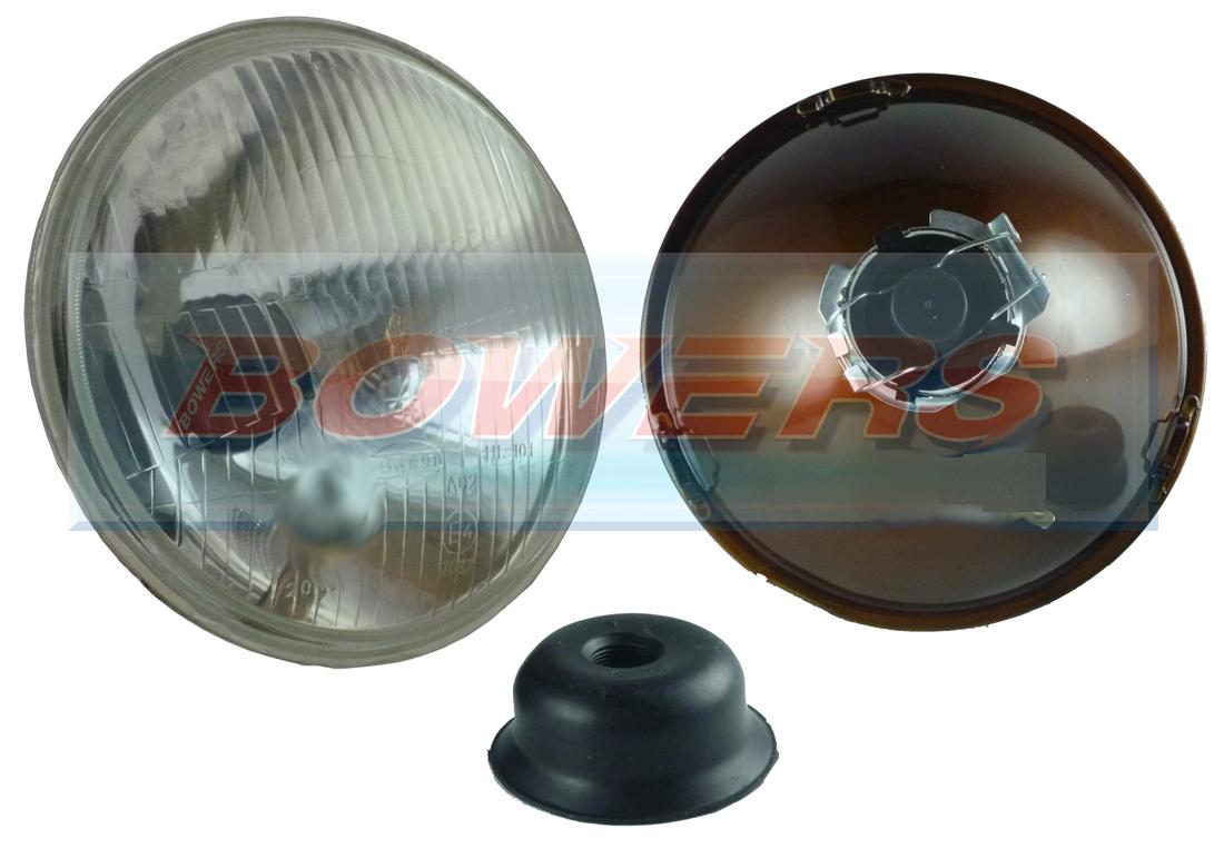 7 Quot Classic Car Sealed Beam Flat Lens Headlight Headlamp