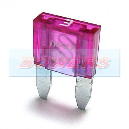 Mini Blade Fuse 10 Pack 3amp Purple