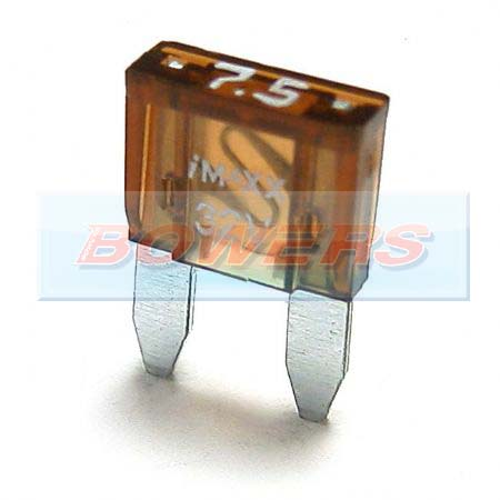 Mini Blade Fuse 10 Pack 7.5amp Brown