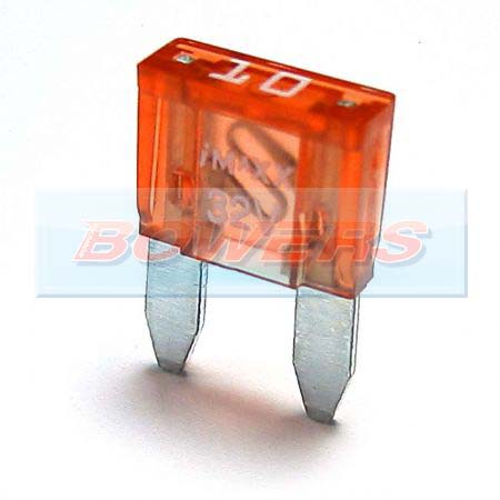 Mini Blade Fuse 10 Pack 10amp Red