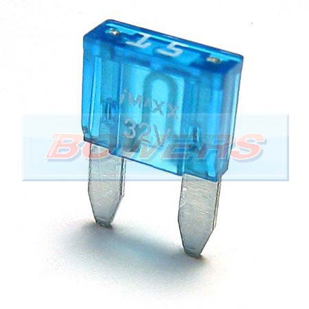 Mini Blade Fuse 10 Pack 15amp Blue