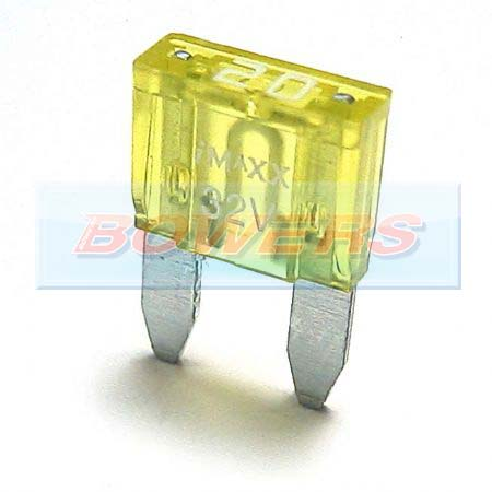 Mini Blade Fuse 10 Pack 20amp Yellow