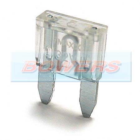 Mini Blade Fuse 10 Pack 25amp Clear