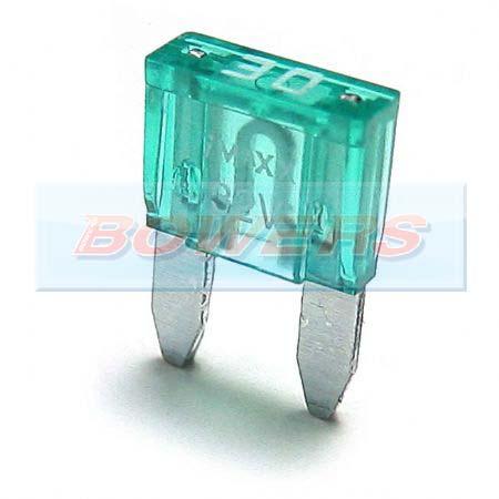 Mini Blade Fuse 10 Pack 30amp Green