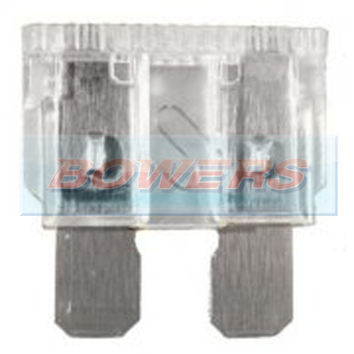 Standard Blade Fuse 10 Pack 25amp Clear
